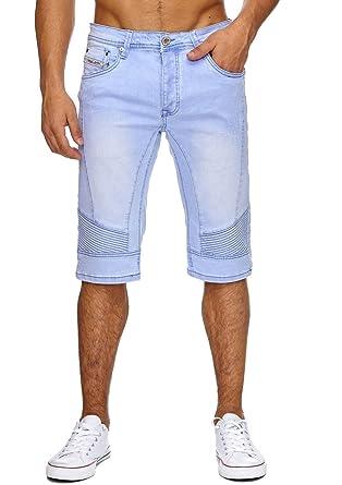 2b6c5901a1d30 Jaylvis Herren Jeans Shorts Biker Hose Bermuda Used Waschung H1868 ...