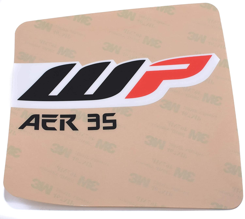 WP Gabel Aufkleber AER 35 transparent SX65 Husqvarna TC65 165x135mm