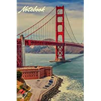 Notebook: Vintage San Francisco Golden Gate Bridge Personalised Homework Book Notepad Notebook Composition and Journal Gratitude Diary Gift