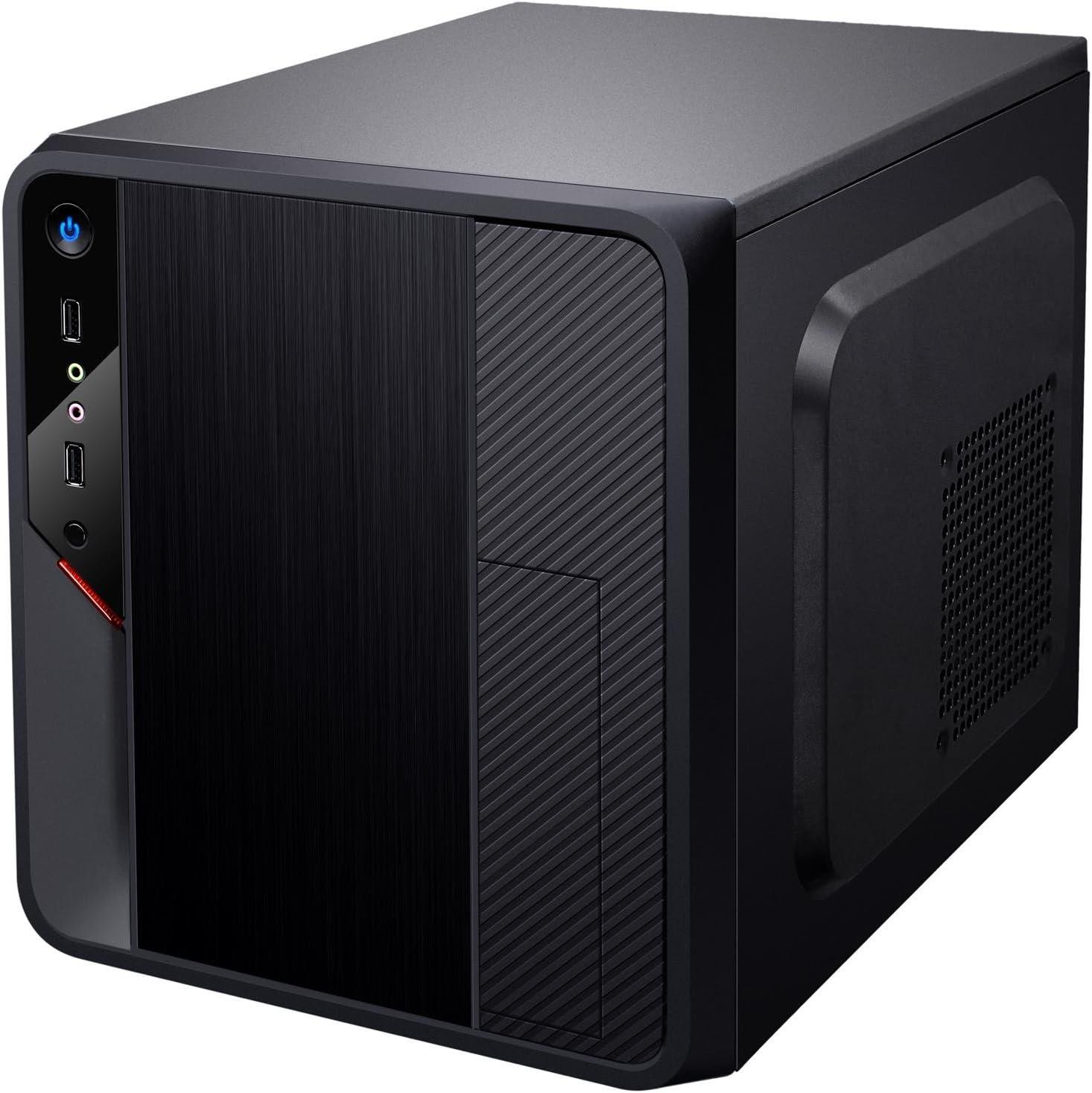 iTek Spacebox Cubo Negro - Caja de Ordenador (Cubo, PC, Negro, Micro ATX, 31,6 cm, Fondo): Amazon.es: Informática