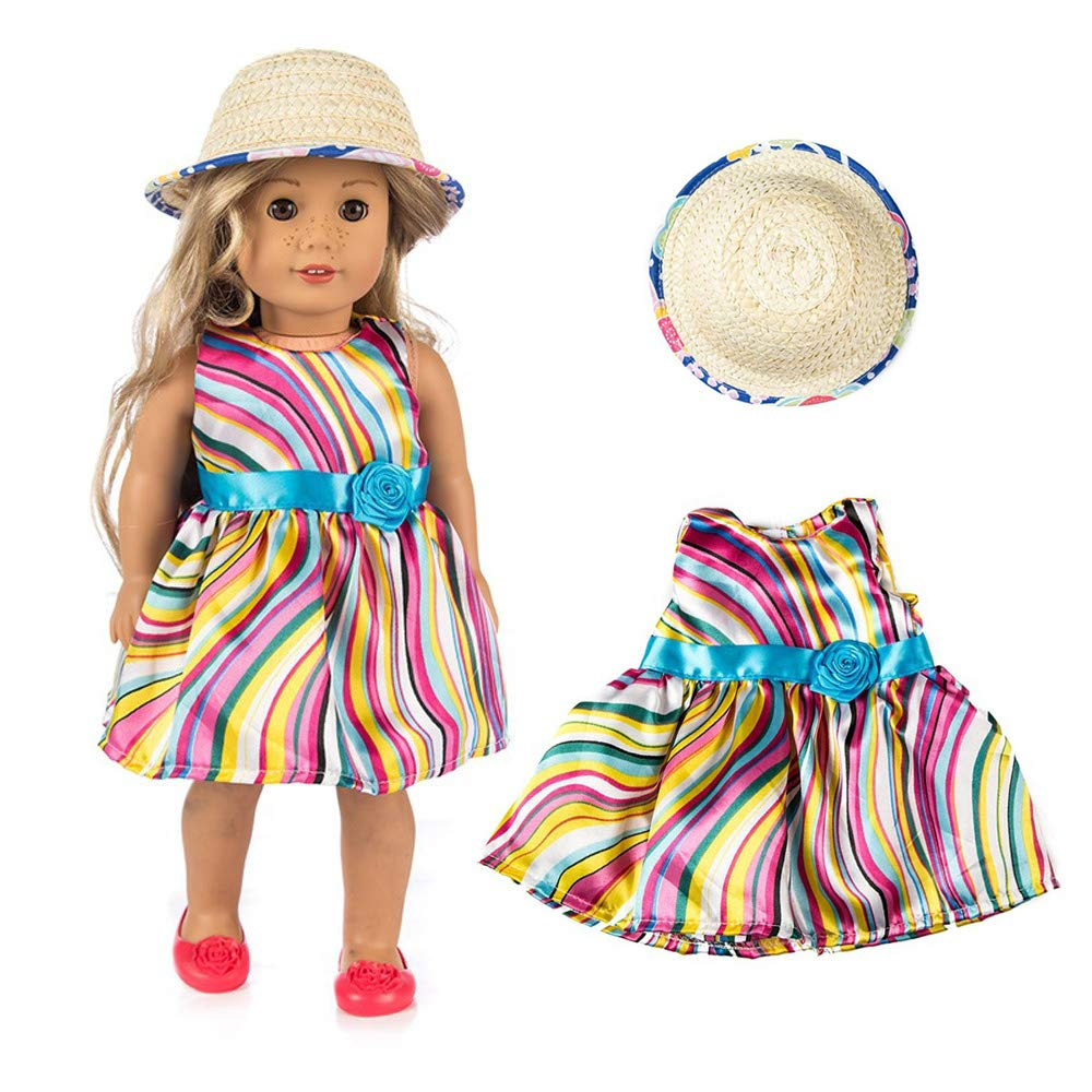 WensLTD Clearance! Skirt&Hat for 18 inch Our Generation American Girl Doll (G)