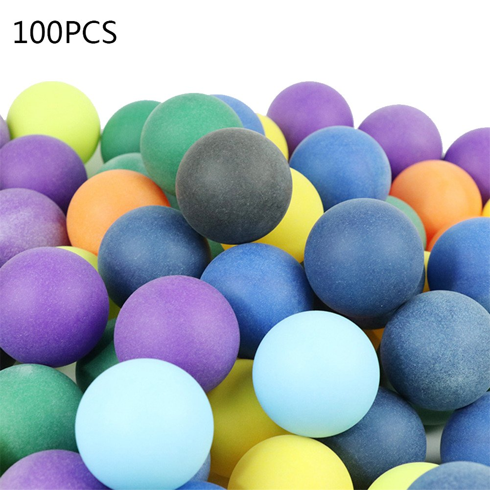 Balles De Tennis De Table Balles De Ping Pong Tennis De Table De Couleur Givrée Ballon d'Entraînement Matériel d'Abs Livraison De Couleur Mélangée 10/50/100/Ensemble Diamètre 40mm 2.8g (100PCS) hifuture
