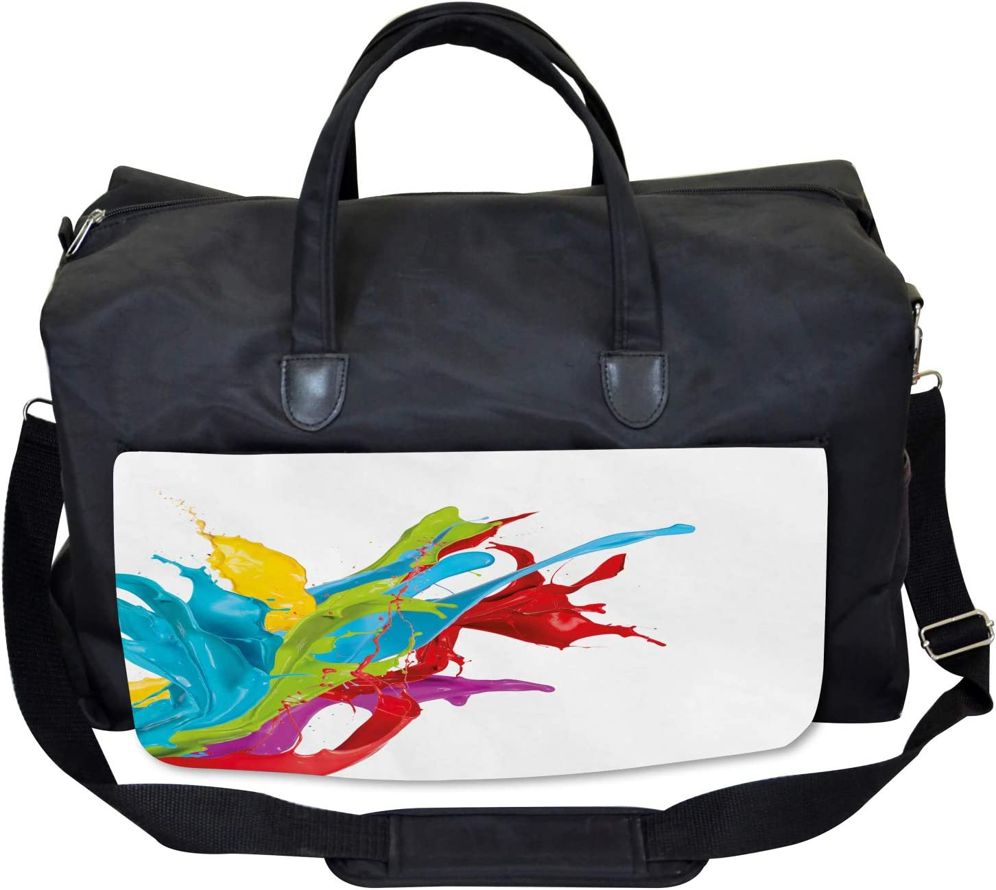 Large Weekender Carry-on Surreal Digital Paint Ambesonne Colorful Gym Bag