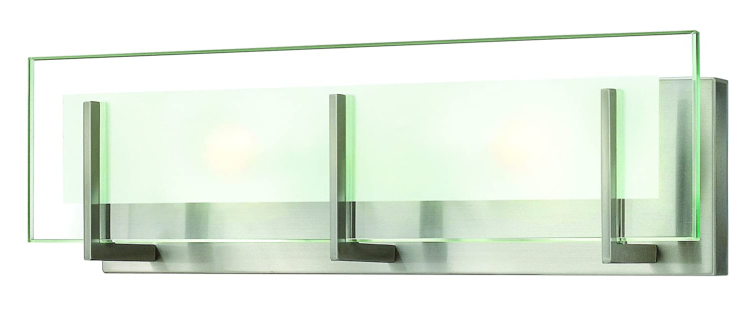 Hinkley 5652BN Contemporary Modern Two Light Bath From Latitude Collection  In Pwt, Nckl, B/S, Slvr.finish,   Vanity Lighting Fixtures   Amazon.com