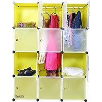 Kurtzy 12 Door Plastic Sheet Wardrobe Storage Rack Closest Organizer