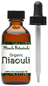 Miracle Botanicals Organic Niaouli Essential Oil - 100% Pure Melaleuca Quinquenervia - 1oz. or 2oz. Sizes - Therapeutic Grade - 60ml/2oz.