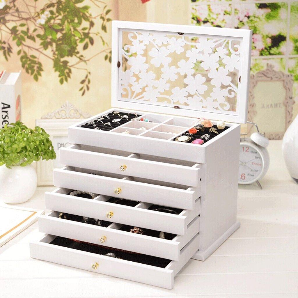 ヨーロッパの純木の宝石箱の任意箱の宝石箱の王女の宝石類の収納箱の結婚祝い B07RV1FKD2