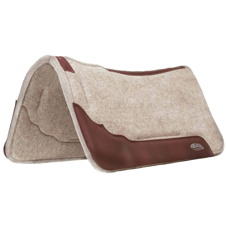 Weaver Leather Synergy Contoured EVA Sport Foam All Natural 100% Wool Felt Saddle Pad