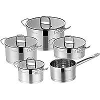 Velaze, Série Mayne, Batterie de Cuisine en Acier Inoxydable, Set de Poêles et casseroles