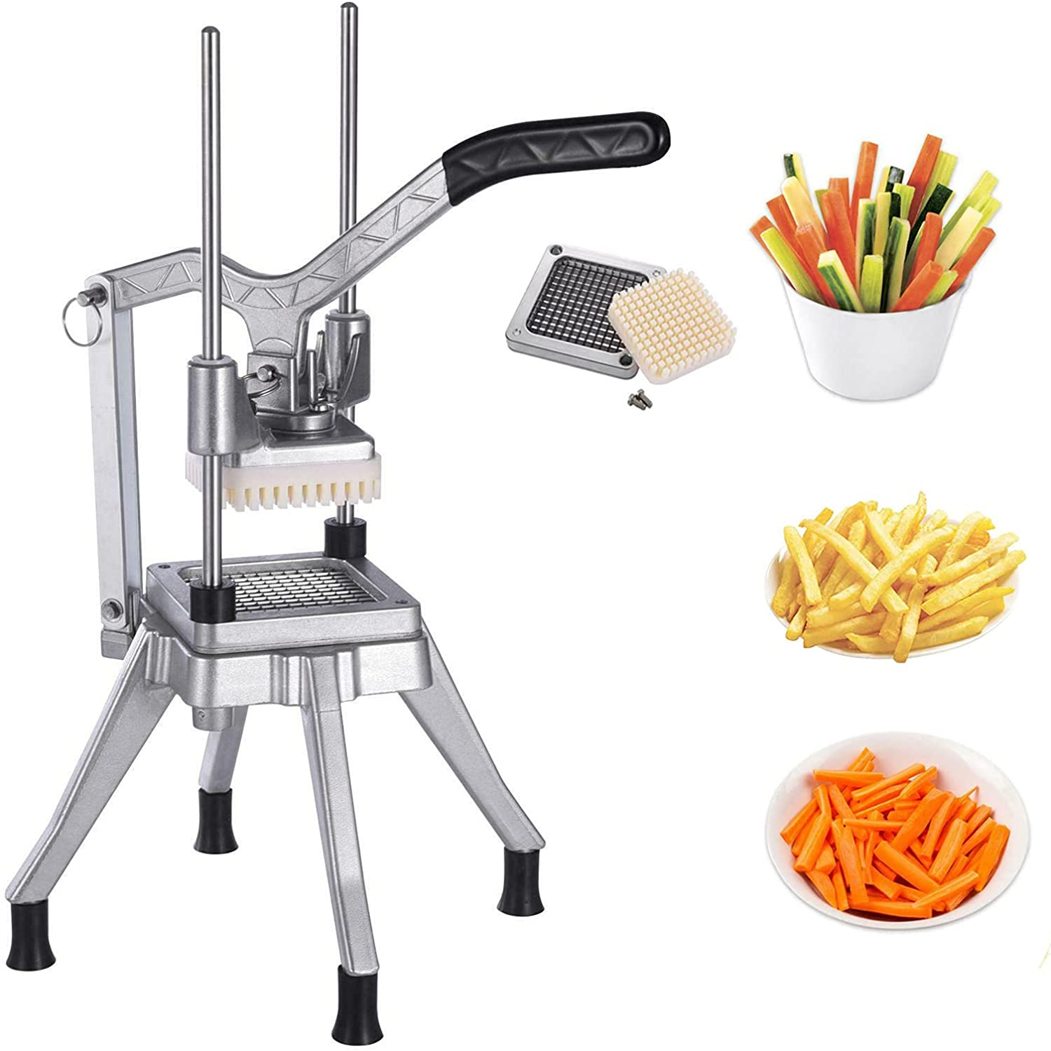 FlySkip Commercial Vegetable Dicer Stainless Steel Quick Commercial Vegetable Chopper with 3/8