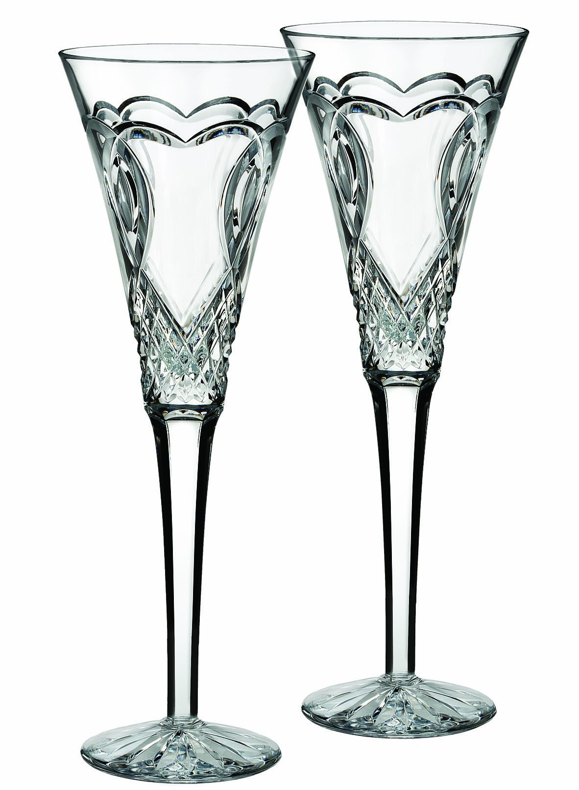Waterford ''Wedding'' Set Of 2 Flutes