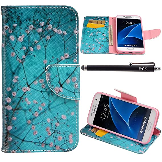 the best attitude 313d6 09866 S7 Case, Galaxy S7 Wallet Case, iYCK Premium PU Leather Flip Folio Carrying  Magnetic Closure Protective Shell Wallet Case Cover for Samsung Galaxy S7  ...