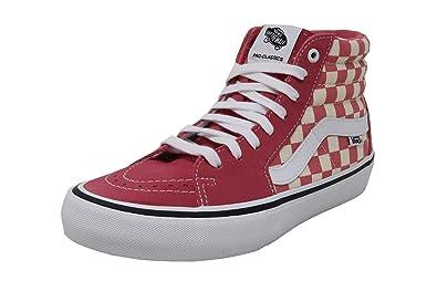 90b5f5767169 Vans Men Women Shoes SK8-Hi Pro Classic Checkerboard Pink Skateboard  Sneakers (4.5