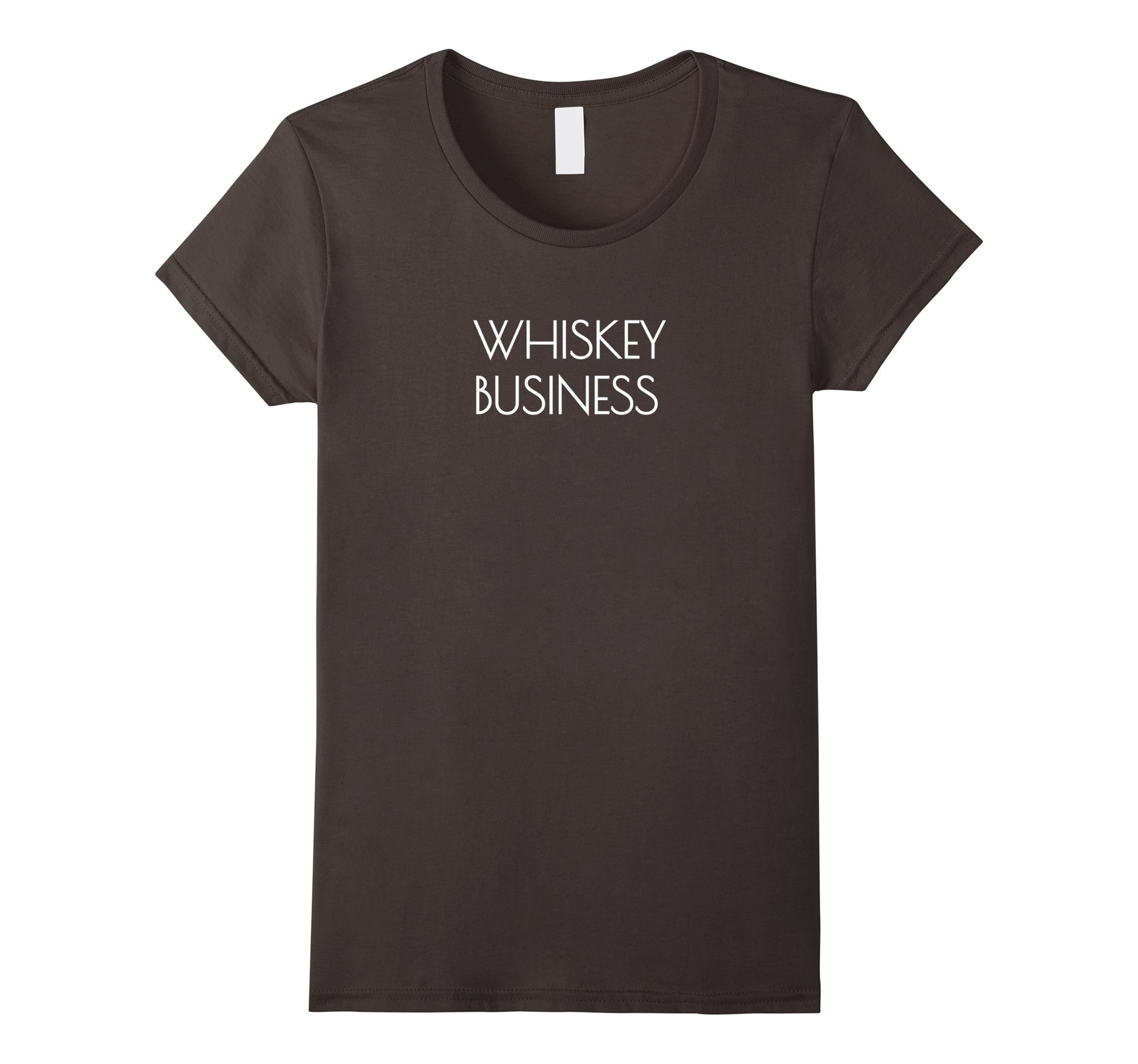 Womens Whiskey Business Funny Drinking And Going Out T-Shirt Medium Asphalt by Funny Drinking Whiskey Quotes T-Shirts