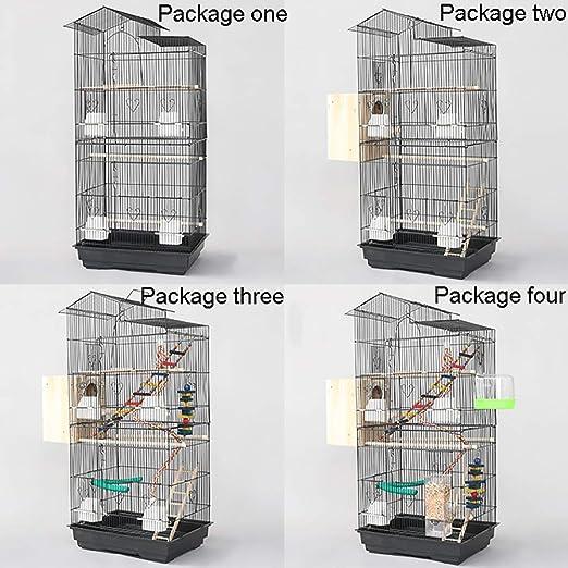 ZISITA Bird Cage Portátil/Cubierta Al Aire Libre De Metal Jaula De ...
