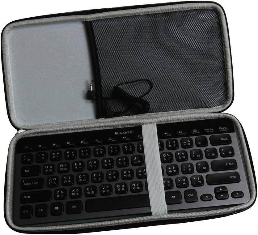 Hermitshell Caja protectora de viajes EVA Llevar tamaños cubierta de la bolsa del bolso compacto para Logitech K810 920-004292 K811 920-004161 Bluetooth Multi-Device Teclados iPad/Tablet/Samsung Galax
