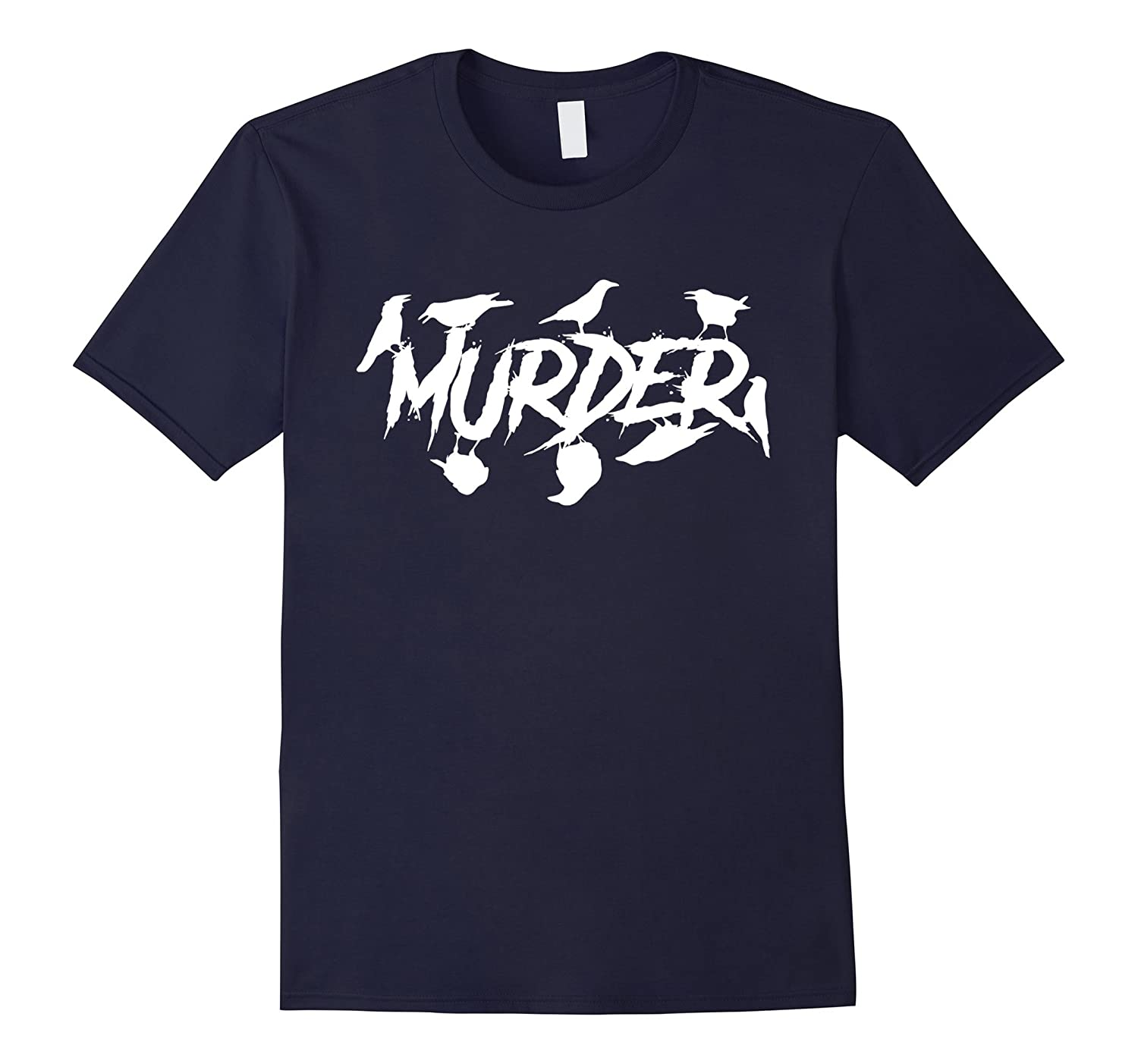 Murder of Crows funny graphic tee shirt horror style-FL