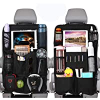 "WonVon Car Backseat Organizer with 10"" Clear Screen Tablet Holder and USB/Headphone Slits Car Organizers Seat Back…"