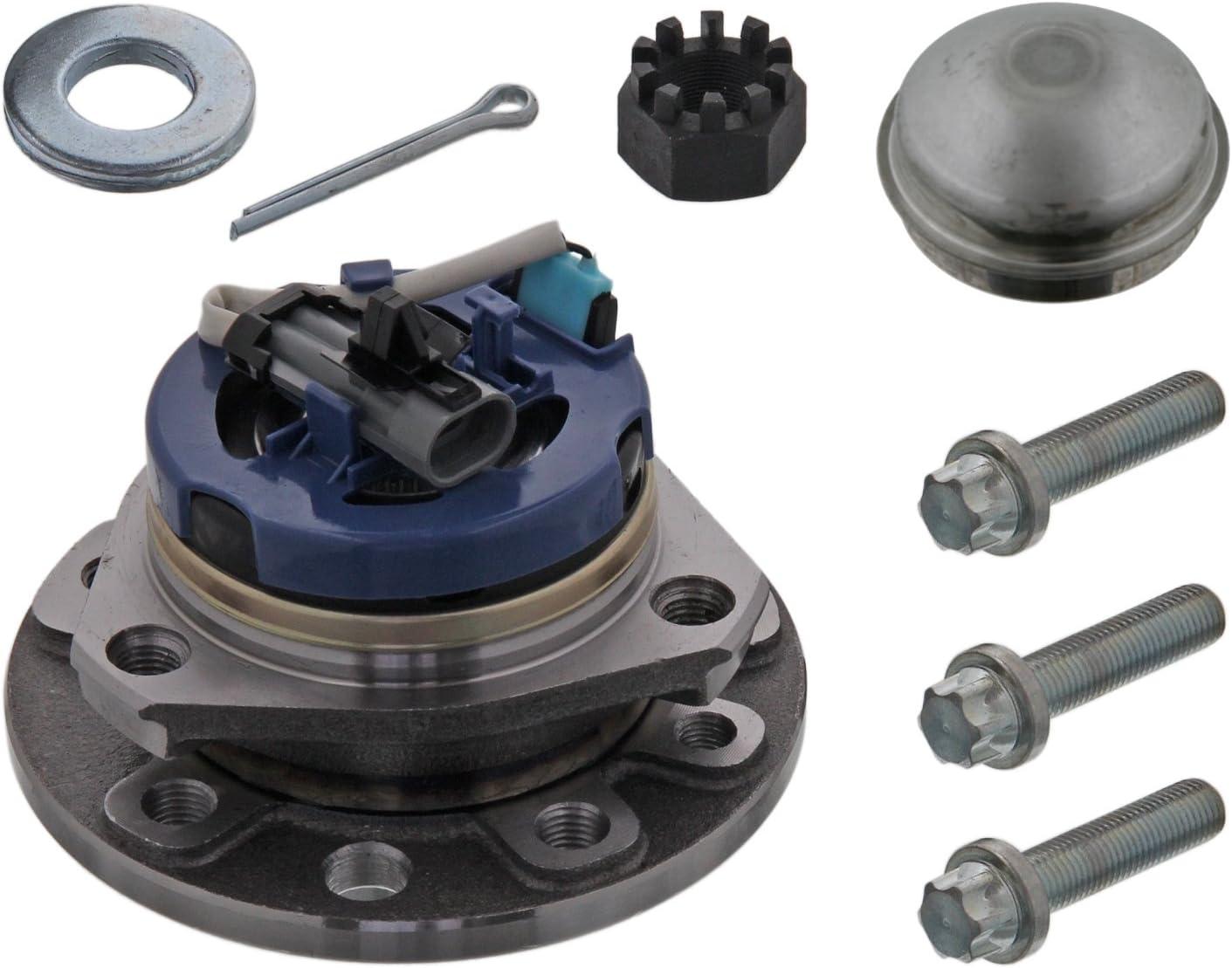 | febi bilstein 24164 kit cuscinetto ruota con sensore velocit/Ã/ anteriore bilaterale coperchio di protezione e coppiglia
