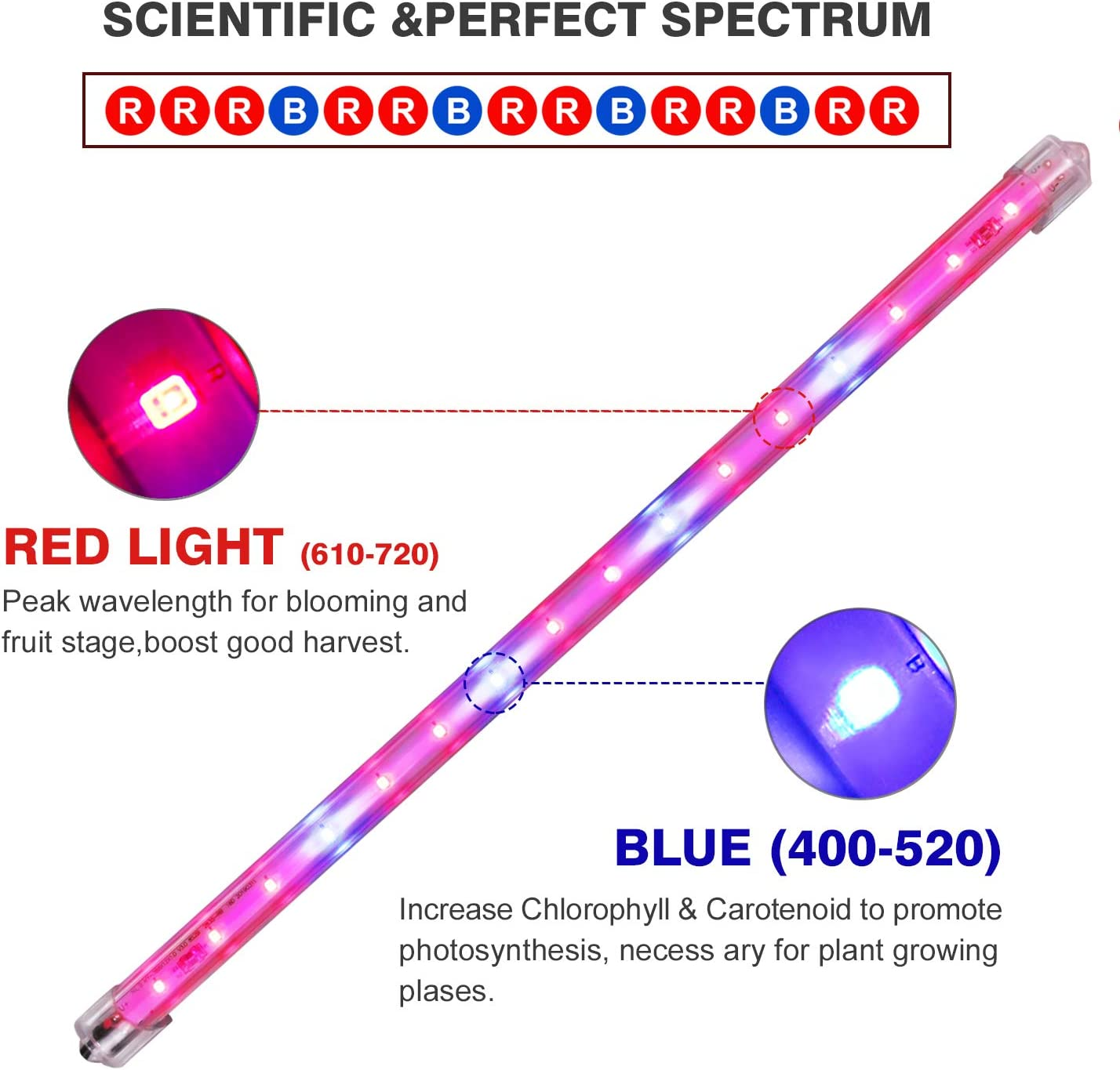Roleadro Grow Light for Indoor Plants Upgraded Version LM301B Chips /&3500K /&Red Full Spectrum T5 Grow Lamp with Timer Plant Lights Bar 4 Dimmable Levels for Indoor Tent Seedling Hydroponics 4Pack