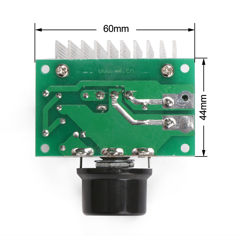 Drok Ac 220v 3800w High Power Voltage Regulator Scr Adjustable Alarm Driver Circuit Design Controller Dimmer Temperature Speed Thermostat Light Temp