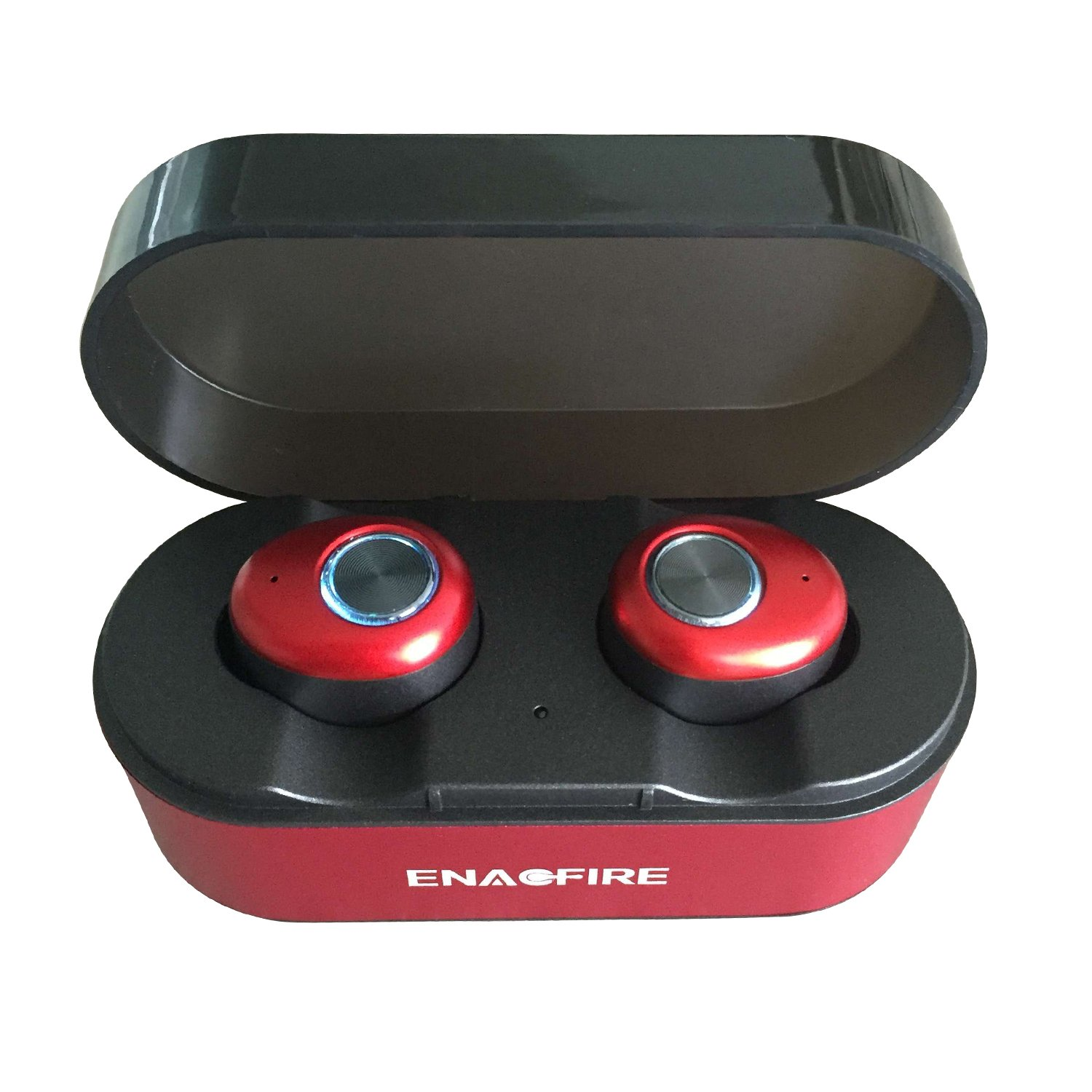 c7f55fb1f64 Galleon - Tiamat Wireless Earbuds, ENACFIRE E18 Bluetooth Earbuds 15H  Playtime 3D Stereo Sound Wireless Headphones (Red)