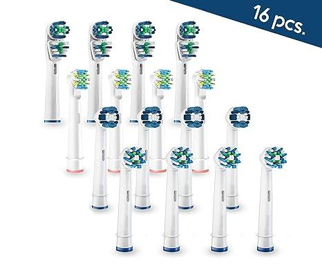 Active White - Surtido de Cabezales universales para Cepillos Electricos compatibles con Oral-B Braun