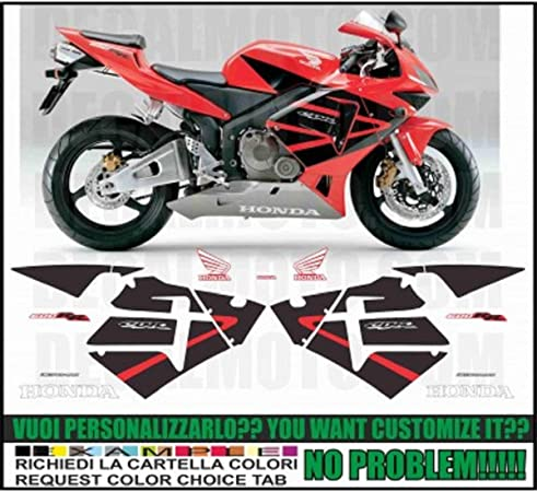 GRAPICHSMOTO Kit adesivi Decal stikers Honda CBR 600 1000 RR F Test Valencia 2012 Marquez