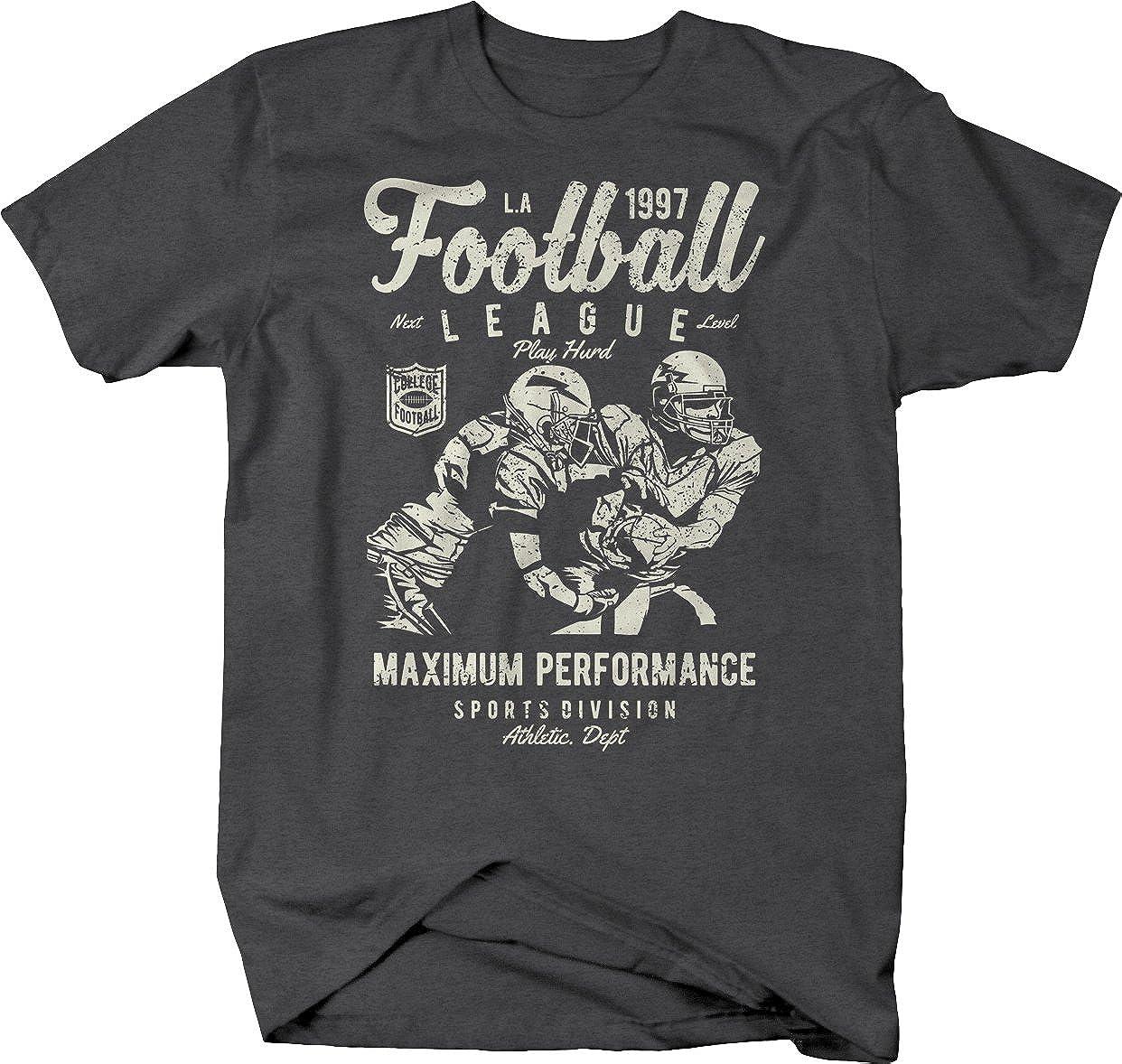Amazon.com  M22 Football League Performance Vintage Retro College Tshirt   Clothing 0649eef02