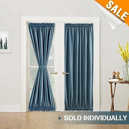 Amazon Linen Look French Door Panel Curtains 72 Inch Length