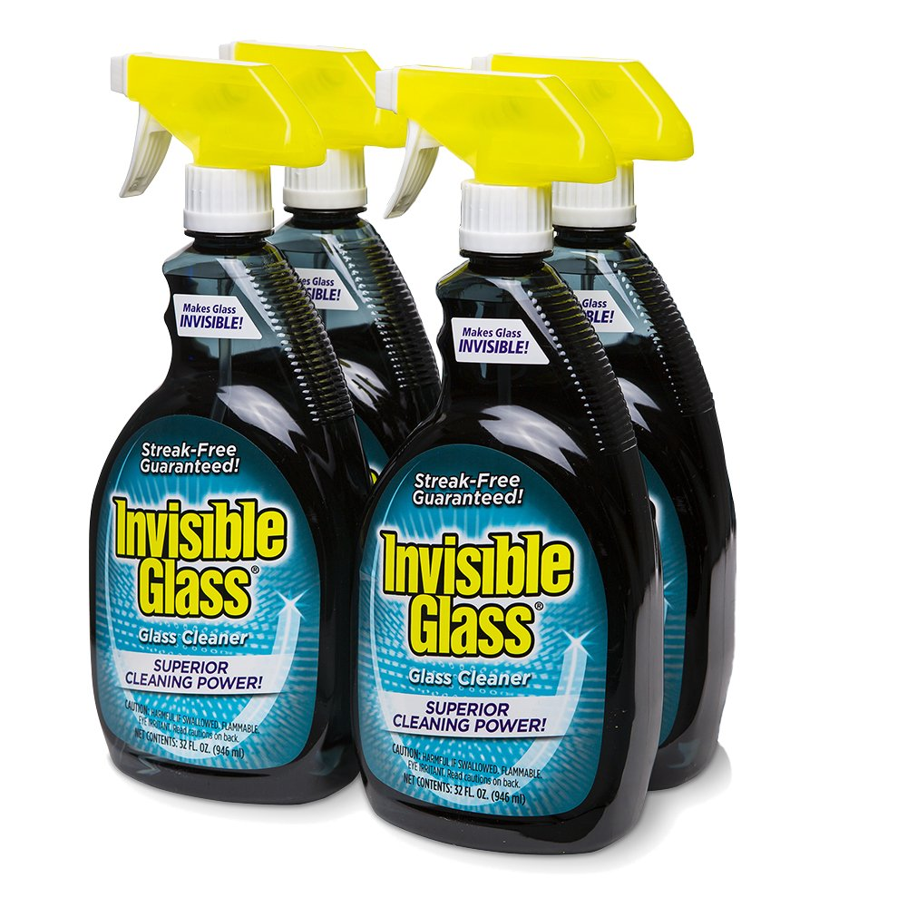 Invisible Glass Cleaner and Window Spray for Home and Auto for a Streak-Free Shine. Film-Free Glass Cleaner Safe for Tined and Non-Tinted Windows. Windshield Film Remover, 32 oz.