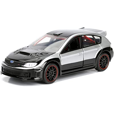Jada 98507 Toys Ff Subaru WRX STI Diecast Vehicle, Silver, 1: 32 Scale, Silver/Black: Toys & Games [5Bkhe0205495]