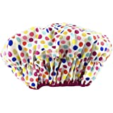 Betty Dain Fashionista Collection Mold Resistant Lined Shower Cap, Waterproof Exterior, PEVA Lining, Mold and Mildew Resistan