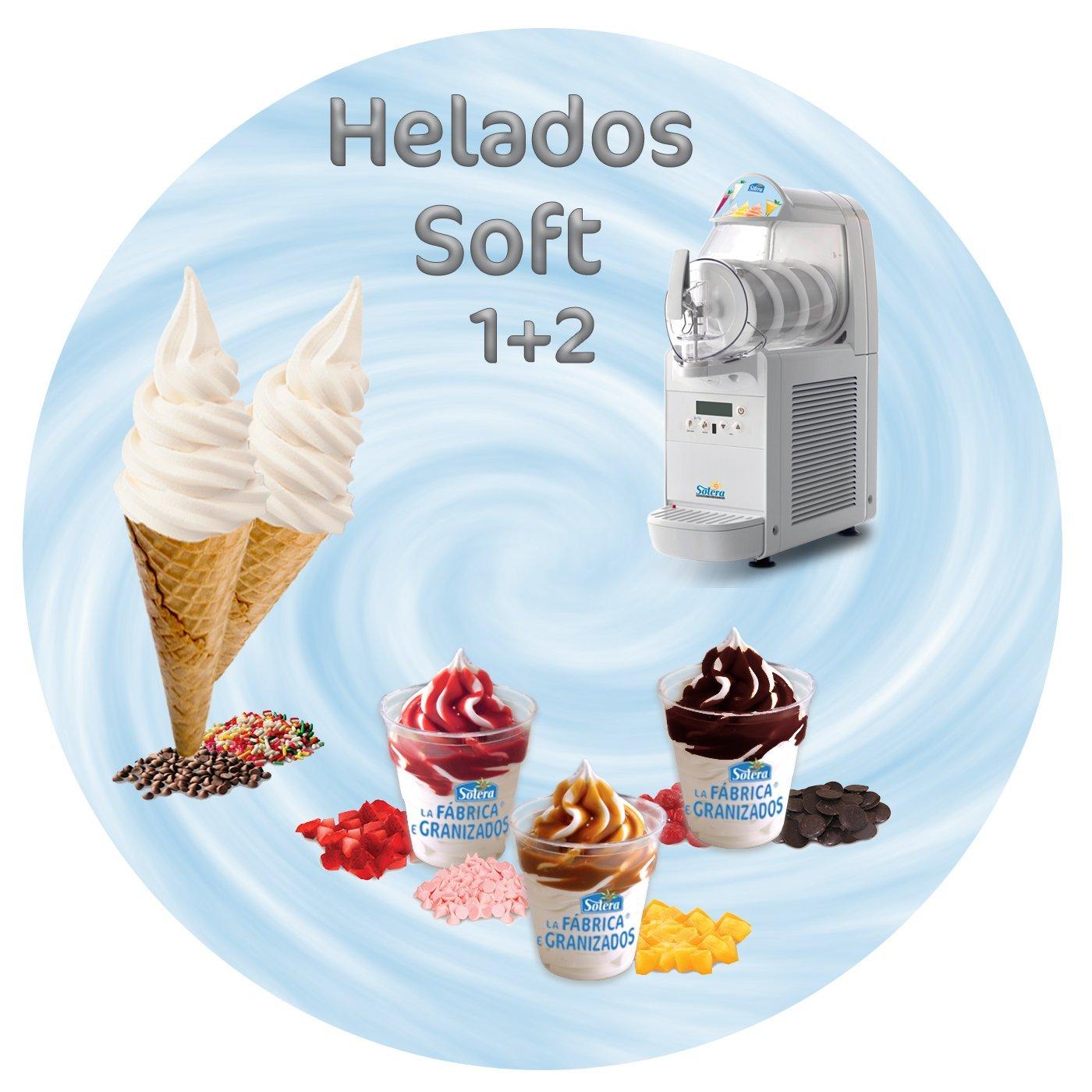 Helado Soft (1+2) - 6 Brik de 1 Litro concentrado=18 Litros + 20% aumento=21.6 L.de helado Soft terminado. (Nata): Amazon.es: Alimentación y bebidas