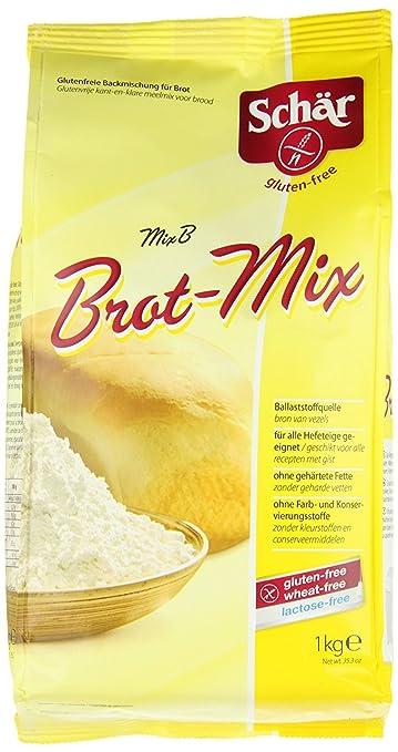 schär Mix B – Pan mezcla de harina 1 kg – sin gluten: Amazon ...