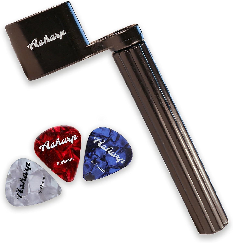 Manivela para cuerdas Asharp con 3 púas, manivela para cuerdas de alta calidad para un cambio de cuerdas rápido, para todo tipo de guitarras