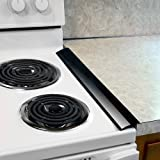 Silicone Stove Counter Gap Covers - Black (2 Pack) by Plum Hill