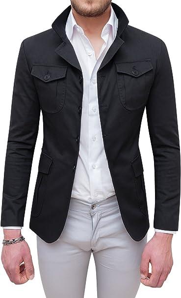 giacca uomo nera slim