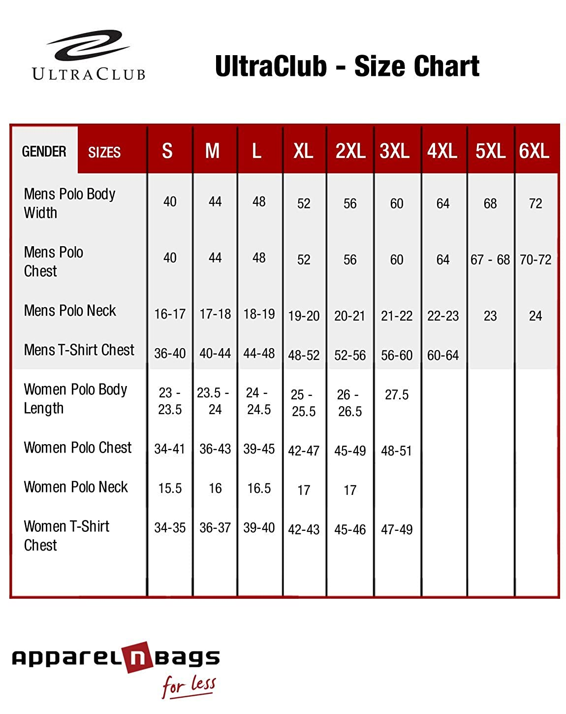 Navy Heather Ultraclub 8619 Men Performance Tee M
