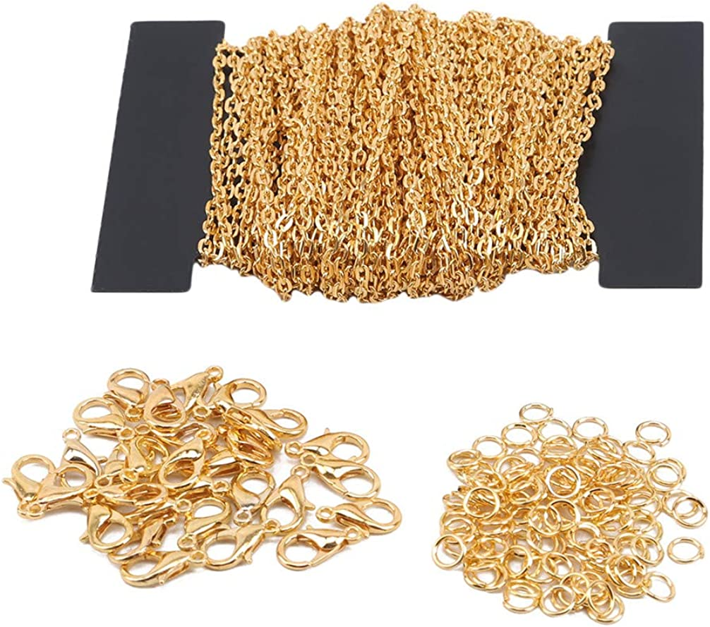 Toporchid Necklace Chains Flat Chain DIY Jewelry Making Supplies