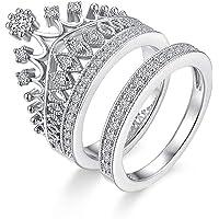 University Trendz Silver Metal Queen Crown Pattern Ring for Women