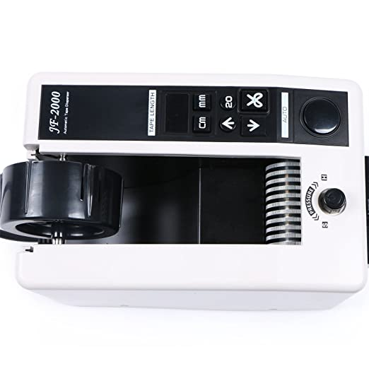Amazon.com : Automatic Tape Dispenser JF-2000 Electric Tape Cutter Machine 18 W 3-Digital LED for 7-50mm Tape Width 20-999 mm Length Setting : Office ...