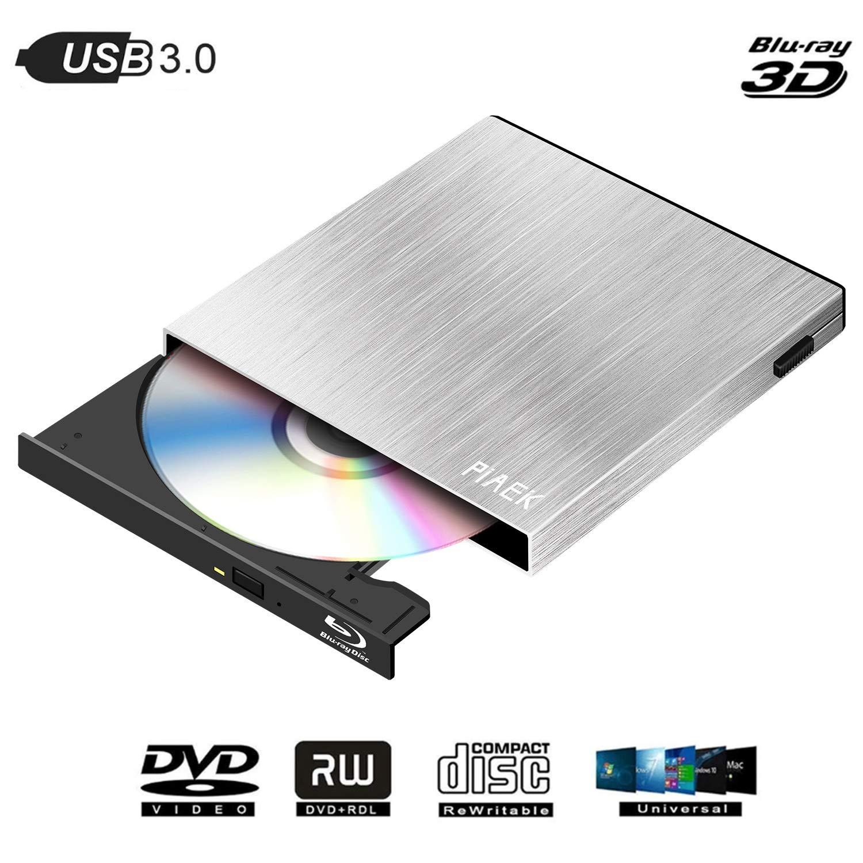 External Blu Ray DVD CD Drive,USB 3.0 Portable Bluray Optical DVD Drive Player Burner for MacBook Win XP/vista/7/8/10 MacOS
