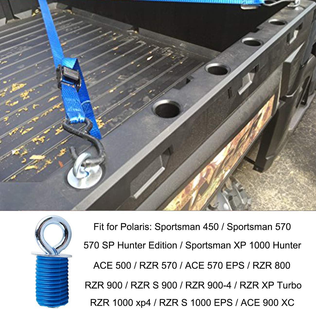 ALAVENTE ATV Anchors for Polaris Lock /& Ride ATV Tie Down Anchors for RZR Sportsman and Ace 6Pcs Twist /& Lock ATV Anchors