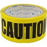 プライムナカムラ パッキングテープ (CAUTION) コーション OPP製 パッキング用 セロテープ デザイン デコレーション シールテープ (幅4.8cm×長さ25m)