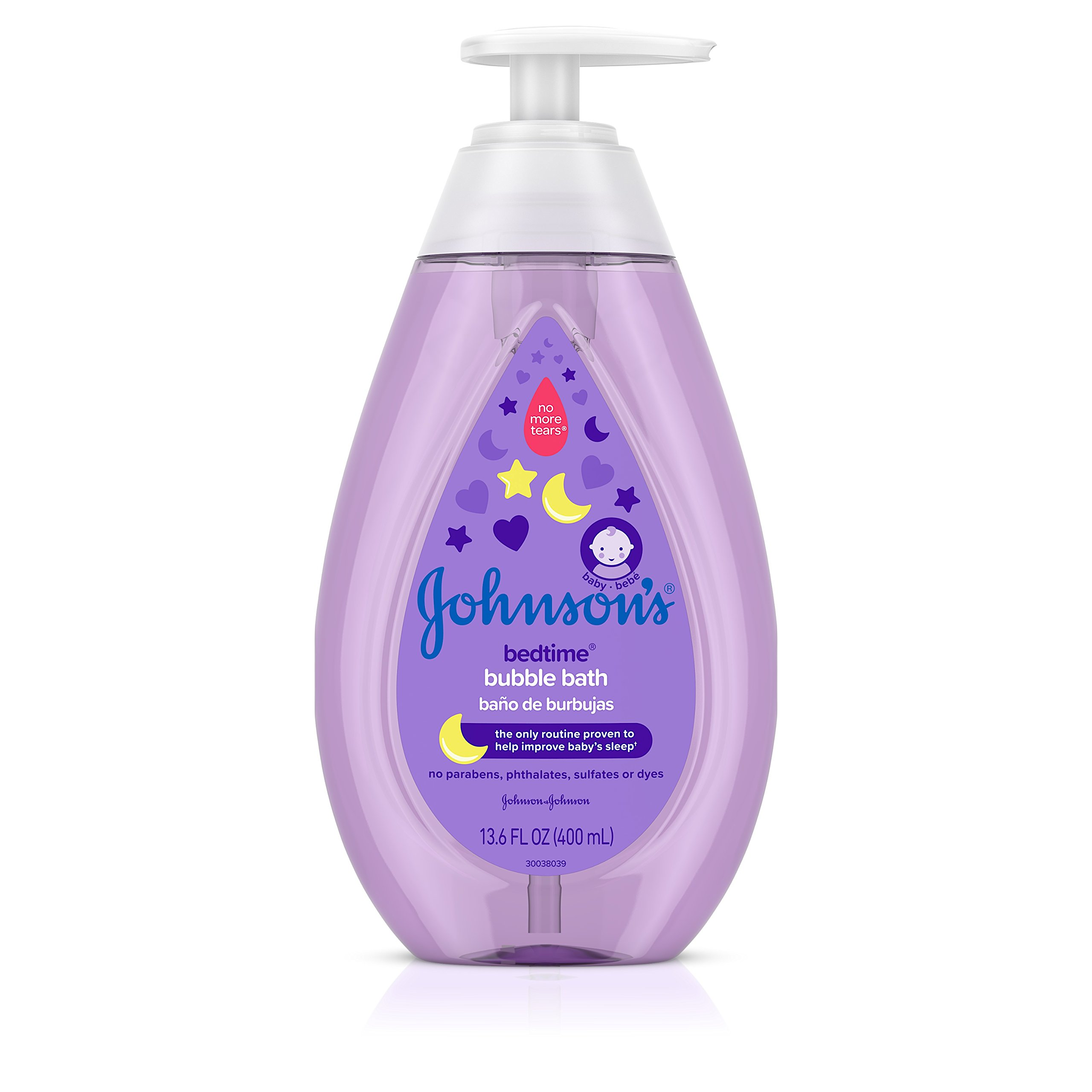 Johnson's Baby Hypoallergenic Bedtime Baby Bubble Bath With Natural Calm Aromas, 13.6 Fluid Ounce (Pack of 3)