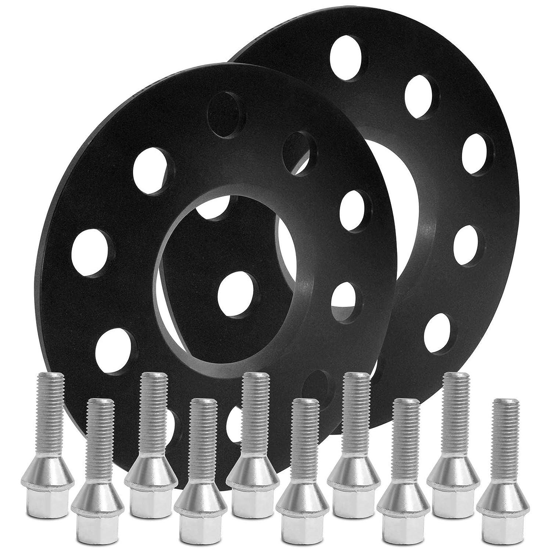 BlackLine Spurverbreiterung 10mm 5mm mit Schrauben silber 5x110 65,1mm 10218W/_12/_M1215KE26S