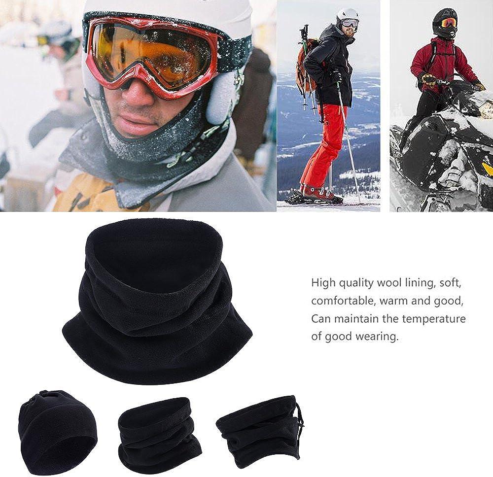 Fleece Ear Warmers Headband Winter Neck Warmer Gaiter Tube Set for Men Women