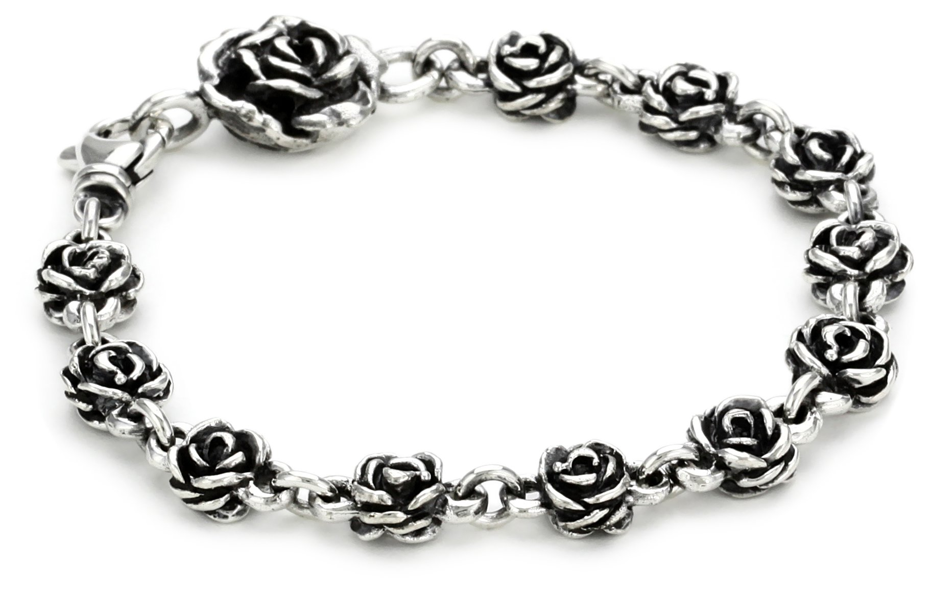 King Baby ''Rose'' Rose-Motif Chain Bracelet