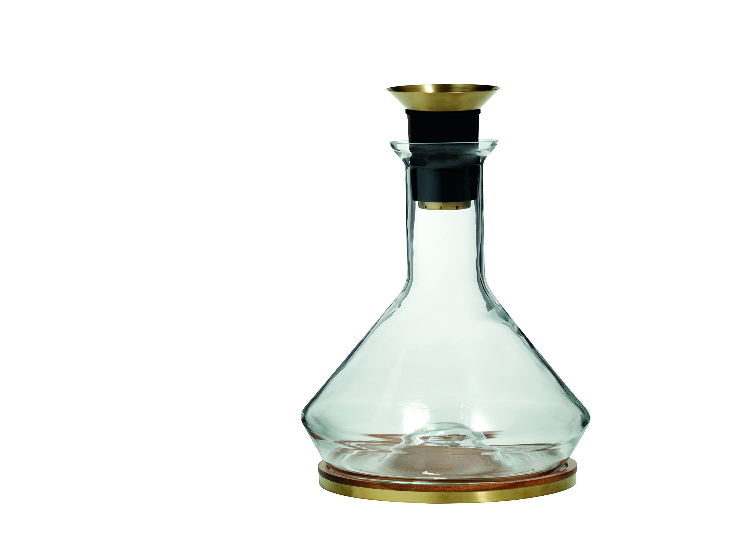 RBT Decanter with Wood Coaster and Micro-Perforated Aerator by RBT